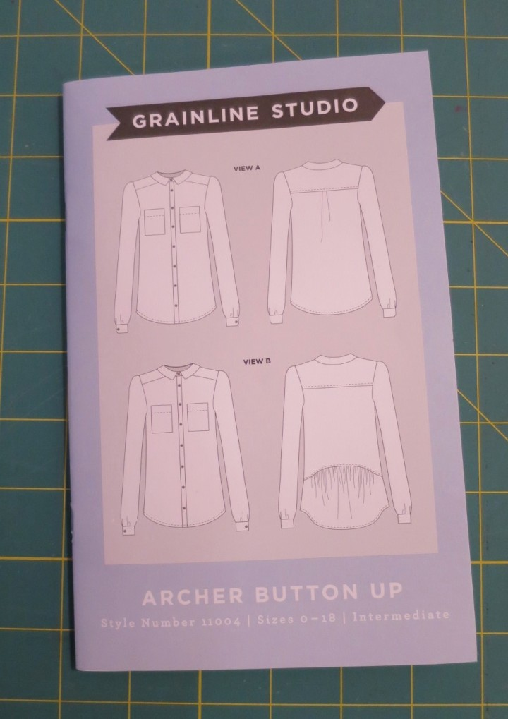 Archer shirt dress pattern