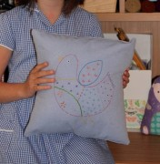 Childrens sewing lessons jenny gale embroidered cushion (2)