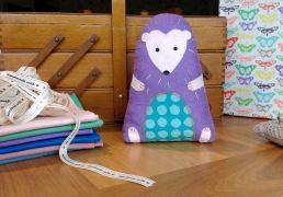 Felt hedgehog sewing project jenny gale