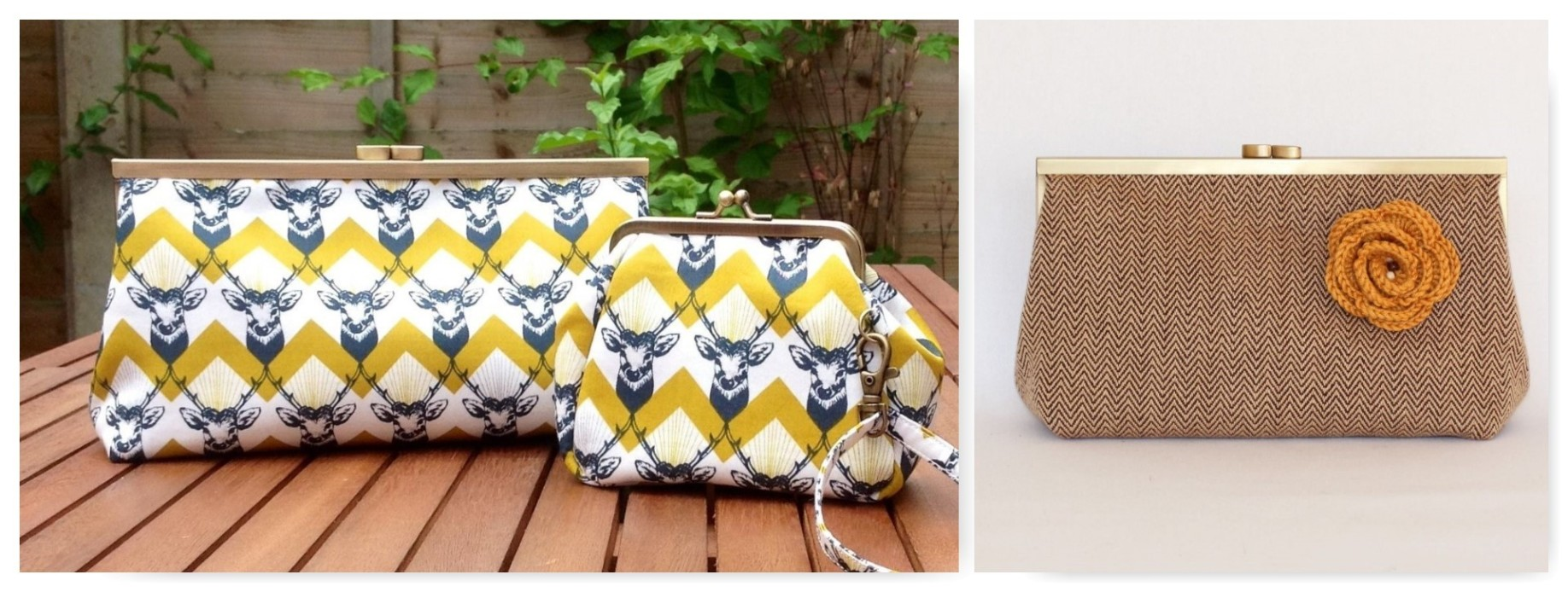clasp purse collage