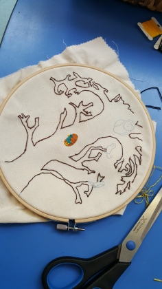 Embroidery designed by a student