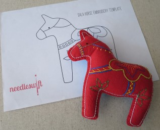 A Dala horse embroidery project