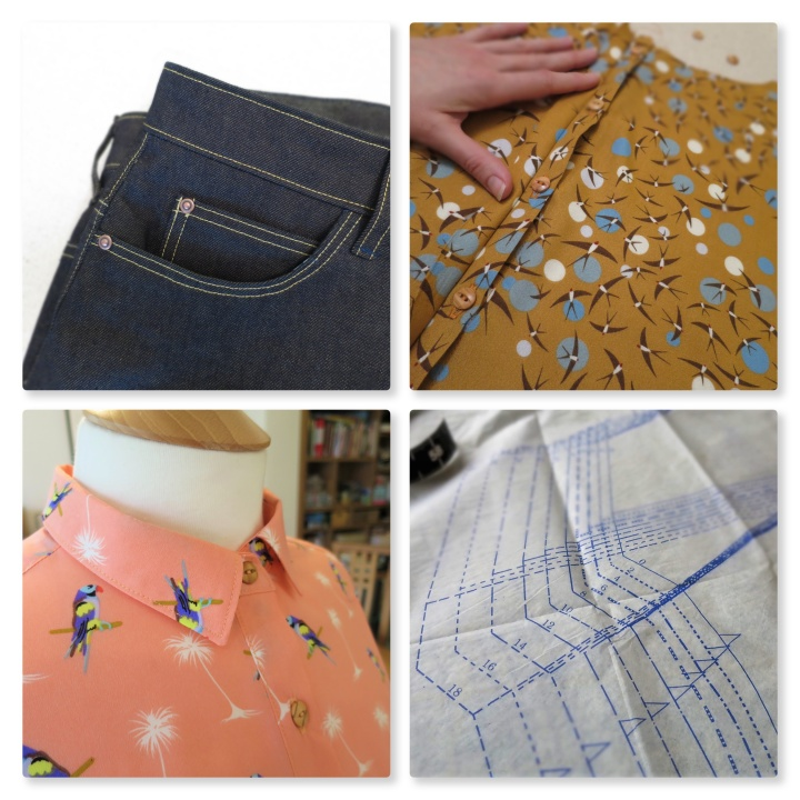 dressmaking days collage