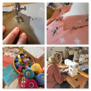 social sewing collage needleswift