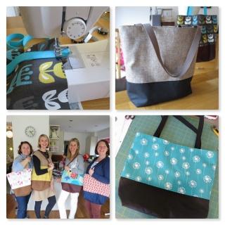 tote bag workshop collage