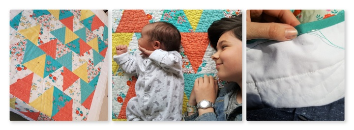Evie's Quilt: un-selfish sewing